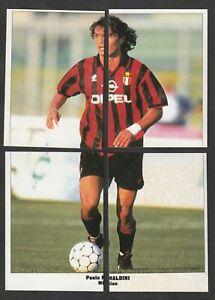 4 FIGURINE CALCIATORI SERVICE LINE STARS PARADE EUROCUPS 1994-95 MILAN MALDINI
