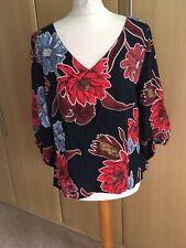 Fab M & S Collection floral patterned top size 14