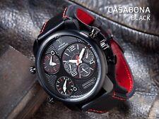 DETOMASO Casabona Mens Wrist Watch XXL Multifunction Black Stainless Steel. New!