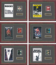 ROCKY BALBOA 6 x FRAMED 35MM FILM CELLS - ALL THE FILMS