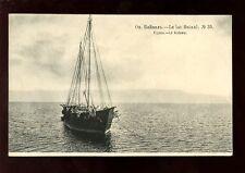 Russia Lac Baikal sailing Boat c1900s? PPC