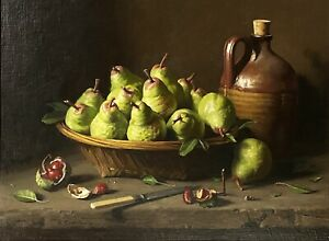"Harley Cameron Griffiths (Australian 1908-1981) Still Life ""Pears"" Artwork"