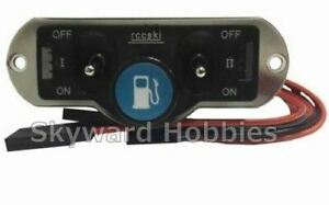 HEAVY DUTY DUAL POWER SWITCH WITH FUEL DOT for RC Planes