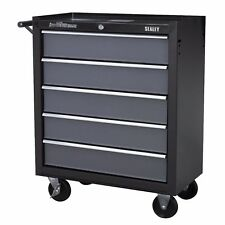 Sealey Heavy Duty Roller Roll Tool Storage Cabinet 5 Drawer Ball Bearing