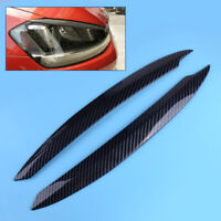 2PCS Headlight Eyebrow Cover Trim Fit for VW Golf 7 GTI GTD 2013-2017 ABS