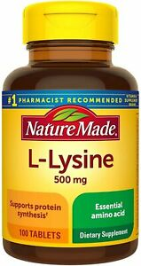 Nature Made L-Lysine 500 mg Dietary Supplement Tablets - 100 Count