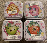 Shopkins Trading Cards Collectors Tins - Set Of Four - NEW!