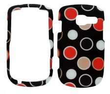 Color Polka Rubberized Protective Cover Case for Pantech Link 2 P5000