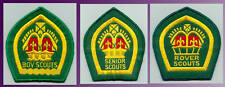 1940-60's UK / BRITISH - SENIOR ROVER KING'S QUEEN'S SCOUT TOP AWARD Backpatch
