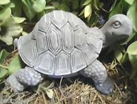 Gostatue crawling turtle latex w plastic backup mold plaster concrete mold mould