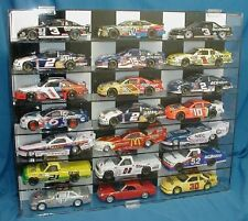 Diecast Car Display Case 1:24 Model Checkered Back New