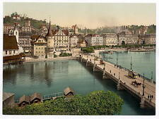 The Schweizerhof Quay Lucerne A4 Photo Print