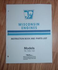 WISCONSIN TH THD TJD ENGINE OWNERS SERVICE  MANUAL