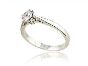 1/2CT SOLITAIRE DIAMOND PLATINUM 8 CLAW ENGAGEMENT RING SIZE A-Z 0.50CT 950