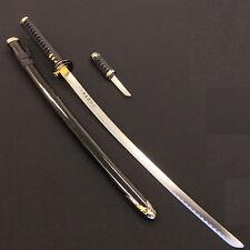 Black Japanese Samurai Katana/Sword with Knife