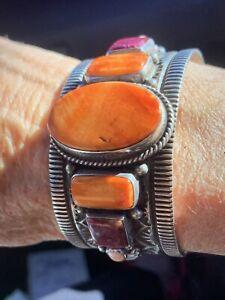 DELBERT GORDON Navajo Sterling Silver Cuff Bracelet Signed