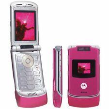 Motorola RAZR V3 - Pink Color (Unlocked) include original accssoraiz
