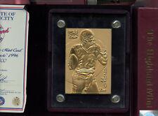 Dan Marino Highland Mint 1996 Pinnacle Card Solid Bronze Miami Dolphins HOF