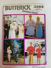 """Butterick 3569 Sewing Pattern Barbie 11 1/2"""" Fashion Doll Clothes New Uncut 1989"""