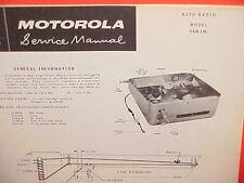 "1959 IH INTERNATIONAL HARVESTER ""A"" TRUCK MOTOROLA AM RADIO SERVICE SHOP MANUAL"