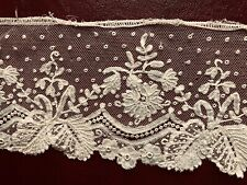 19th C. Brussels bobbin lace with needle lace accents - Collect Craft