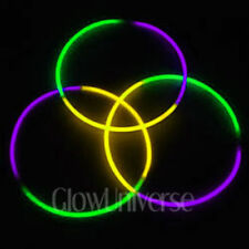 "600 24"" Glow Necklaces in Tri-Color Green, purple, Yellow"