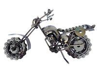 """Old Fashion Motorcycle Bike Harley 10"""" Hybrid Scrap Welded Metal Sculpture"""