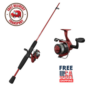 """Red Slingshot Spinning Reel, 5'6"""" 2-Piece Rod And Fishing Rod Combo Hot Deal"""