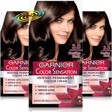 3x Garnier Color Sensation 3.0 PRESTIGE BLACK Permanent Hair Colour Dye