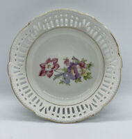 Vintage Schwarzenhammer Bavaria Floral Candy Trinket Dish Bowl Made In Germany