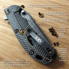 Zero Tolerance ZT0560 561 ZT Knife 12PC Titanium Screw Set inc LBS Washer BRONZE