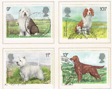 UK British Cani Set di 4 Francobolli 1980