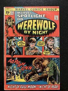 MARVEL SPOTLIGHT #2 (1972) 1st WEREWOLF BY NIGHT NICE MID-GRADE COPY!