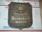 """Vintage Heineken Bieren Beer 12"""" x 12"""" Plastic Wood Carving Theme Wall Sign"""