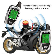 SPY Motorcycle Alarm & Immobiliser 2 Way LCD Pager Remote Start Microwave Sensor