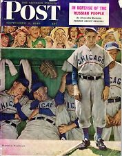 1948 Saturday Evening POST, Baseball magazine, Norman Rockwell Chicago Cubs~Poor