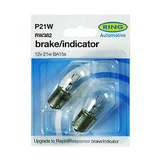2 x Ring 382 P21W BA15S Front Rear Indicator Signal Car Light Bulb RW382 12v 21w