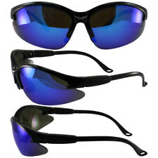 Safety Shop Glasses with Black Frame and G-Tech Blue Lenses
