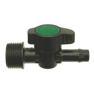 Pope 13 x 20mm Threaded In-Line Tap - 2 Pack 13Mm Poly Fittings