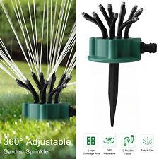 360° Flexible 12 Tubes Garden Yard Lawn Water Sprinkler Watering Sprayer System