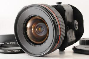 【TOP MINT+】CANON TS-E 24mm F/3.5 L Tilt Shift AF Lens + Filter EW-75BII Hood JP