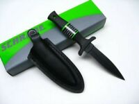 Schrade SCHF19 Tactical Black Small Fixed Blade Spear Point Boot Knife + Sheath