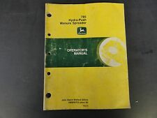 John Deere 785 Hydra-Push Manure Spreader Operator's Manual  OMW40705