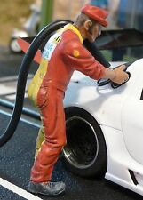 "Figur MECHANIKER Maurice Team SHELL 1:32 auch für Carrera ""TOP DEKO""  LMF132032"
