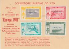 Europa CEPT 1961  Guernsey - Sark  Commodore Shipping  Ersttagskarte