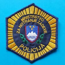 Original Slovenian Ministry of the Interior POLICE Sewing Sleeve Badge Patch