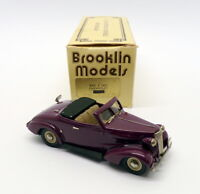 Brooklin Models 1/43 Scale BRK4 - 1937 Chevrolet Convertible - Purple Reworked