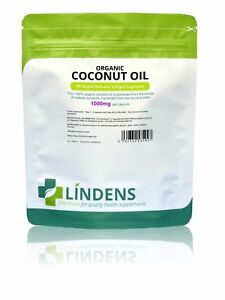 100% Organic Coconut Oil 1000mg Capsules (90 pack) Lindens