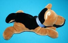 "GERMAN SHEPHERD DOG 14""  Plush My Best Friend Lying Tummy Blue Collar Stuffed"