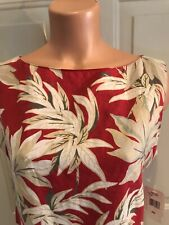 JONES NEW YORK Sport, Sz 10, Woven Linen, Top in Tropical Print.  NEW